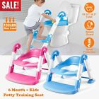 3 in1 Baby Potty Trainer Toilet Chair Seat Step W/ Ladder Step Up Training Stool image