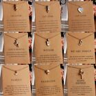 Women Chic Gold Card Animal Cat Owl Clavicle Short Pendant Necklace Jewelry Gift image
