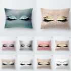 US Pillow Case Glitter Car Sofa Throw Cushion Cover Eyelash Lash Home Decor image
