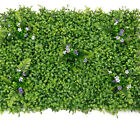 Fake Living Plant Foliage Hedge Grass Mat Greenery Panel Hall Wall Fence Decor