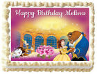 Внешний вид - BELLE Beauty and the beast Edible cake topper Party image