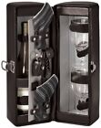 Picnic Time Harmony Single Bottle Wine Case,  Wine Service for 2, Black BLOW OUT
