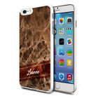 Personalised Marble Phone Case Cover for Apple Samsung Initial Text Name - I61