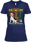 Great gift Ugly Christmas Sweater Beagles D - Merry Women's Women's V-Neck Tee