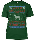 Casual Labradoodle Ugly Christmas Sweater - Warm Hanes Tagless Tee T-Shirt