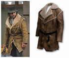 Men's Hell On Wheels Cullen Bohannon Anson Mount Leather  Faux Fur Coat Jacket