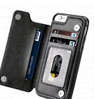 Leather Wallet Back Magnetic Flip Cover Thin Slim Case FOR iPhone 7 IPhone 8