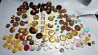 Vintage Button Lot Mother of Pearl, brass, brass plate, bakelite, jeweled