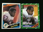 DWIGHT STEPHENSON ROOKIE TOPPS 1984 & 1986 MIAMI DOPLHINS FOOTBALL CARDS