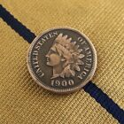 Indianhead Penny Tie Tack / Lapel Pin - Antique USA Indian Head Repurposed Coin