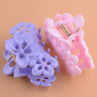 2x Woman Plastic Spring  Floral Design Loaded Hair Claw Clip Clamp Color Random