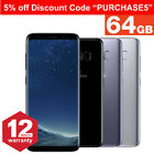 Samsung Galaxy S8 64gb Unlocked 4g Android Mobile Phone Smartphone Various