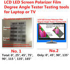 LCD LED Screen Polarizer Polarization Film Degree Angle Tester Testing Tools