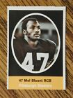 1972 SUNOCO FOOTBALL STAMP MEL BLOUNT PITTSBURGH STEELES