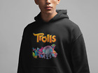 Trolls Cartoon Movie Funny Men's Dry Blend Hooded Sweatshirt S-2XL image