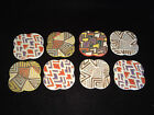 Terra Cotta Pottery- SQUARE COASTERS 3 3/8 INCH SQUARE Made in Vietnam Set of 8