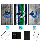 Vancouver Canucks Passport Holder Leather Cover Cards ID Travel Wallet $4.99 USD on eBay
