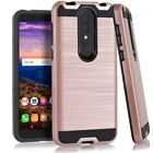 For Alcatel TCL A1X A503DL Metallic Slim Brush Hybrid Case Cover