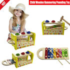 Child Wooden Hammering Pounding Toy 8 Notes Xylophone Strike Game Play Kid Gift