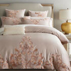 Embroidered bedding set 4pcs pure cotton duvet cover set flat sheet Champagne image