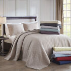 BEAUTIFUL XXXL CLASSIC VINTAGE CHIC STITCH SCROLL COZY SOFT BEDSPREAD QUILT SET  image