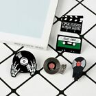 Phonograph Record Cassette Tape Vinyl Record Brooches Collection Enamel Pins