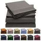 Mellanni 4-Piece Bed Sheet Set, Deep Pocket, Wrinkle, Stain Resistant Microfiber