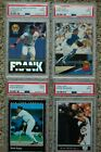Lot of 4 PSA 9 Graded Cards Boggs,McGwire, Piazza and Frank Tomas