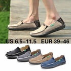 Casual Mens Canvas Shoes Espadrille Slip On Loafers Flats Driving Boat Moccasins