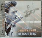 JOHNNY CASH - CLASSIC HITS  - 2 CDS - 28 SONGS - NEW - FAST FREE SHIPPING !!!
