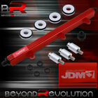 Civic Integra B16 B18 Motor Performance Fuel Injector Rail Turbo Charger Na Red