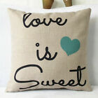 Vintage Funny Words Pillow Case Cotton Linen Sofa Throw Cushion Cover Home Decor