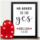Personalised Engagement Gifts He Asked She Said Yes Engagement Gifts for Couples