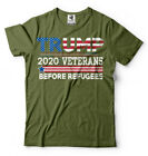 Veterans For Trump 2020 T-shirt Veterans Before Refugees Trump Republican shirt image