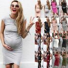 New Women's Comfortable Casual Daily Wear Pregnant Maternity Solid Color Dress