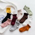 Women Fashion Cute Socks Ankle High Casual Cotton Warm Breathable Solid Socks