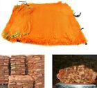 3 Sizes 5-30kg Net Woven Sacks Vegetables Logs Kindling Wood Log Mesh Bag ORANGE