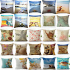 18'' Home Cotton Linen Sea Creature Pillow Case Car Bed Sofa Waist Cushion Cover image