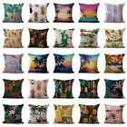 US SELLER- set of 50 pillow cover tropical flowers palm tree flamingo cushion