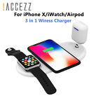 Accezz Qi Fast Wireless Charger I Phone 8 Plus X For Airpods Samsung Universal