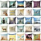 Sightseeing On The Beach Linen Pillow Case Standard Pillow Cover Home Decor