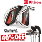 WILSON PROSTAFF HDX COMBO SET MENS GOLF IRONS NEW 2019 HYBRIDS OR IRONS 40% OFF