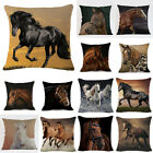 Running Horse Linen Waist Pillow Case Home Decor Throw Sofa Car Cushion Cover image