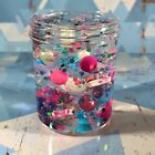 """Clear SLIME """"Mermaids Treasure"""" Stretchy Color Beads Seashell Charms 4 6 8 oz"""