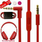 'For Beats Audio Aux 3.5mm Cable Cord Solo Hd Studio Remote Talk Portable