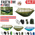 Kyпить Outdoor Double Mosquito Net Hammock Tent Nylon Camping Hanging Bed Swing Chair на еВаy.соm