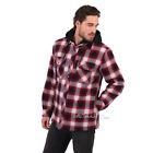 NWT Boston Traders Hooded Plaid Flannel Shirt Jacket Warm Quilted Lining L/XL