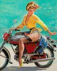 Gil Elvgren-Skirting The Issue, Canvas/Paper Print, Pinup Girl