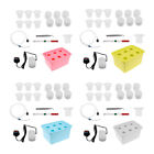 6 Holes Plant Site Hydroponic System Grow Kit Bubble Air Pump Water Culture