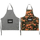 Urban Classics Barbecue Set Grill Handschuh Schürze Camouflage Checkerboard Karo